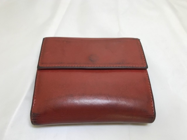 [MORABITO] モラビト三つ折り財布全体補色補修です